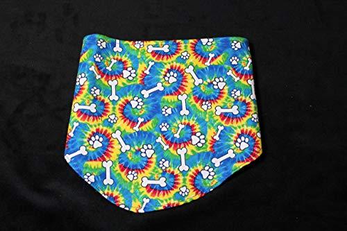 Tye Dye Peace Pet Bandana Bib Scrunchy Bow Tie -