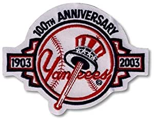 2 Patch Pack - New York Yankees 2003 100th Anniversary MLB Baseball Team Logo Patches