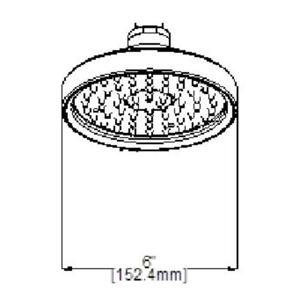 Design House 914838 Geneva Showerhead Brushed Satin Nickel