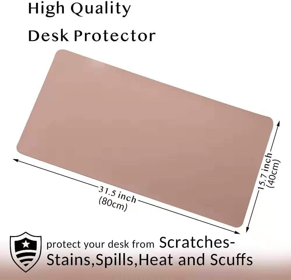 Pink Antiskid Desk Writing Mat for Office//Home Laptop//Computer Desk Mat 31.5 x 15.7 Waterproof PU Leather Mouse Pad//Mat Multifunctional Office Desk Pad