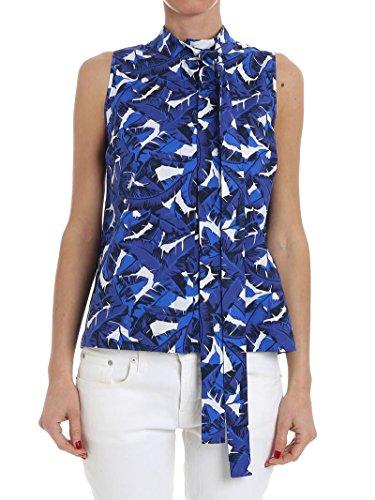MSGM Top Donna 2441MDT0918413101 Cotone Azzurro