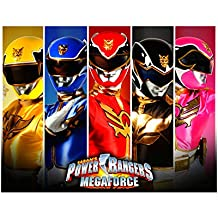Power Rangers Super Mega Force Image Photo Cake Topper Sheet Birthday Party - 1/4 Sheet - 10629