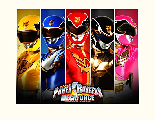 (Power Rangers Super Mega Force Image Photo Cake Topper Sheet Birthday Party - 1/4 Sheet - 10629)