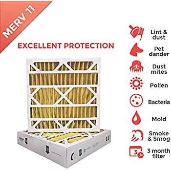 20x25x4 MERV 11 ( MPR 1000 ) Air Filters for AC and ...