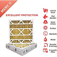20x25x4 MERV 11 (MPR 1000) 4 Inch Air Filters for AC and Furnace. 6 PACK (Actual Depth: 3-3/4)