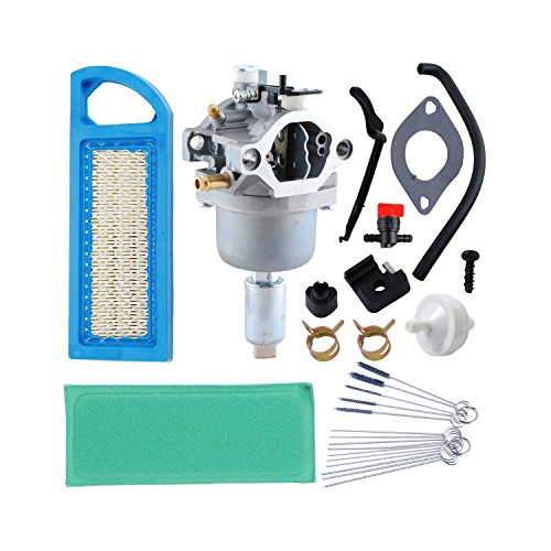 Poweka 594593 591731 Carburetor for Briggs & Stratton With 698083 Air Filter 394358S Fuel Filter 698183 Fuel Shut Off Valve by Poweka