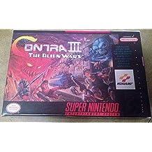 Contra III (3): The Alien Wars (Super Nintendo, SNES, 1992) - Reproduction Video Game Cartridge with Custom Replica Miniature Box