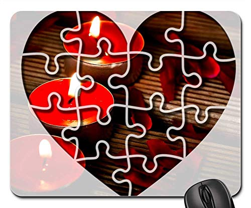 Pad And Quill Coupon (Mouse Pads - Heart Puzzle Candles Emotion Joining)