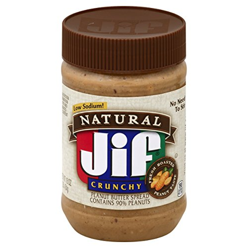 Jif Natural Crunchy Peanut Butter Spread, 16 oz