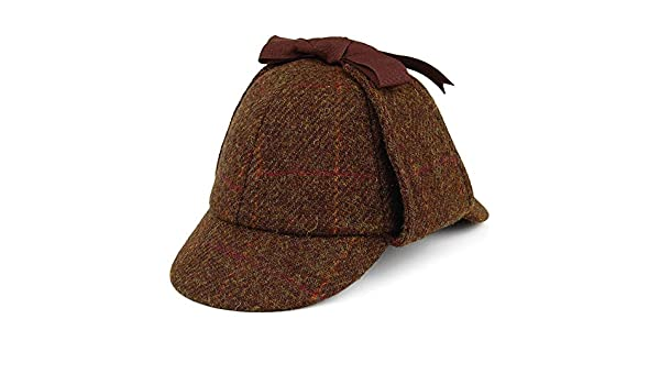 Failsworth Gorra Sherlock Holmes de Tweed Harris Verde Multi - XL ...