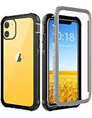 iPhone 11 Case, iPhone XR Case, OWKEY Full Body Rugged Case Heavy Duty Protection, Shock Drop Dirt Snow Proof Slim Fit Cover with Built in Screen Protector for iPhone 11 (2019), iPhone XR (2018), 6.1″