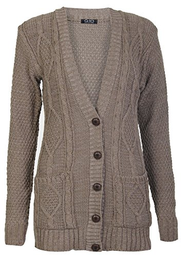 Cardigan Longues Fast Papy Cable Manches Tricot Fashion Xw5xqrPcgX