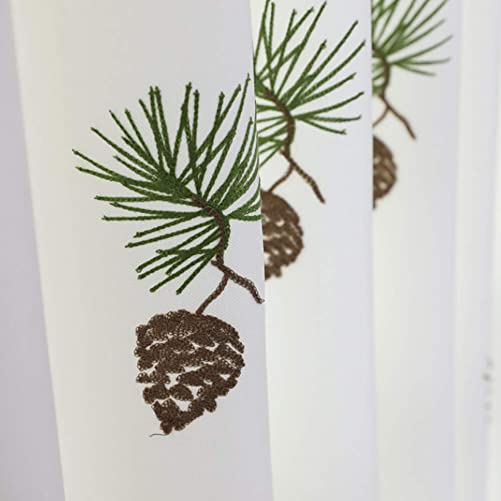 Cartoon Pinecone Semi Blackout Curtains Plants Room Darkening Thermal Insulated Window Drapes and Curtains