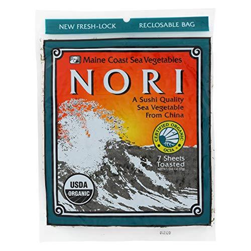 - Maine Coast Organic Sea Vegetables - Sushi Nori Sheets - Toasted Chinese - .6 oz - Case of 3