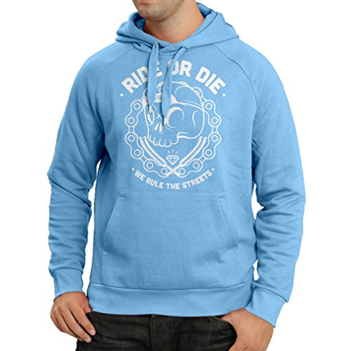 Hoodie Ride or Die (Medium Blue Multi Color)