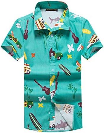 LFNANYI Para Hombre Camisas Hawaianas de Manga Corta Tropical Palm Shirts Hombres Verano Fancy Beach Camisas Hombres Ropa de Fiesta de Vacaciones 4XL: Amazon.es: Deportes y aire libre