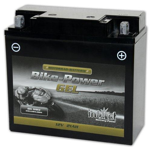 intAct Bike-Power GEL51913   12 V 21 Ah   300 A (EN)   hoogwaardige gel-motoraccu met 30% meer startvermogen…
