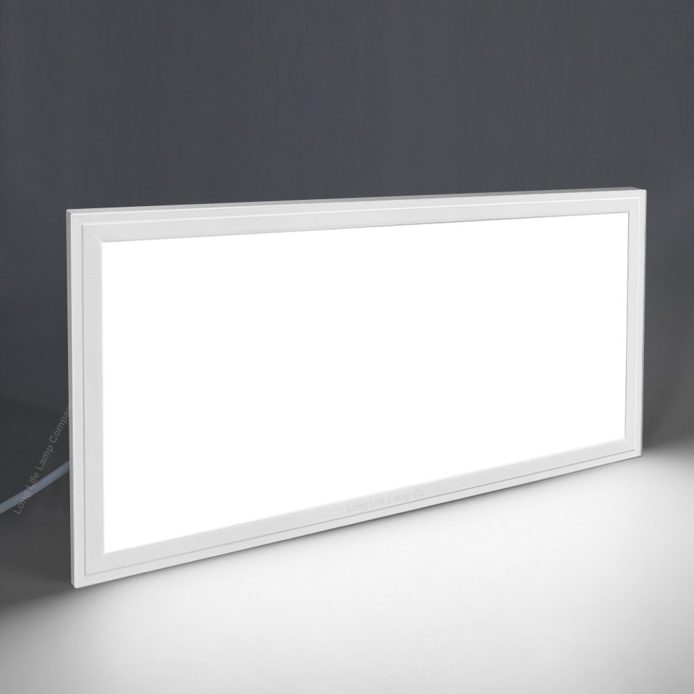 30w LED Panel 300 x 600 Ceiling Light Daylight White 7000K Super Bright Includes Driver [Energy Class A+] Long Life Lamp Company