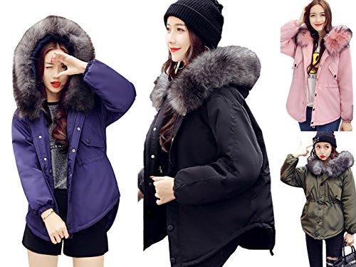 Warm Army Down Coat Winter Womens Jacket Hooded Bigood Coats Green Sleeve Long Irregular EPUq6n