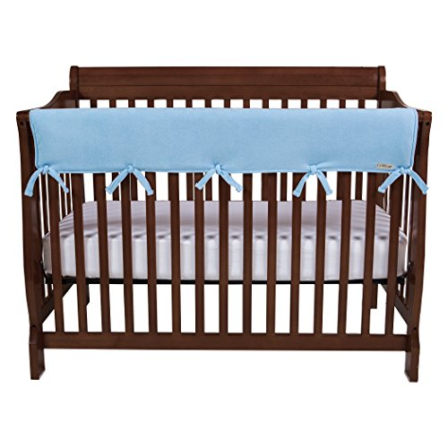 Trend Lab CribWrap Fleece Rail Cover for Long Rail, Blue, Wide
