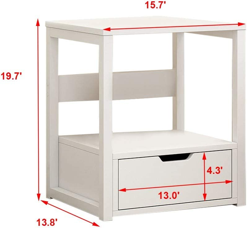 m/·kvfa 2-Tier Nightstand,Storage Locker Bedroom Sofa Coffee Table Modern End Table Side Table for Living Room Bedroom Family and Office