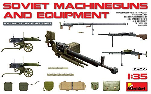 PLASTIC MODEL BUILDING KIT SOVIET MACHINEGUNS AND EQUIPMENT