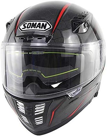 大人のダブルレンズフルヘルメット蛇状炭素繊維乗馬ヘルメットオフロードレース用ヘルメットECE/DOT標準大ヘルメット