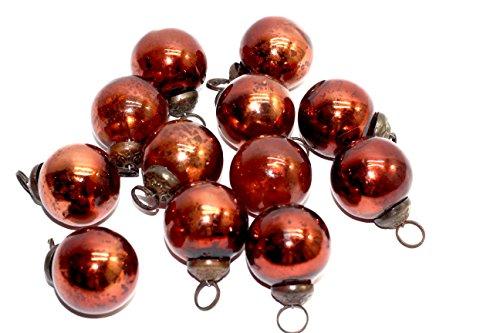 - antique mercury glass ornaments (copper plain)