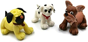 Mr_air_thai_Miniature Set 3 Miniature Dog Puppy Fairy Garden Supplies Animal Clay Figurine Furniture Dollhouse D#02