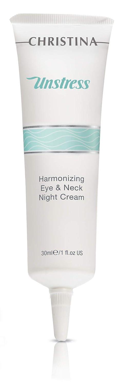 Unstress Harmonizing Eye & Neck Night Cream - Overnight Skin Repair for All Skin Types, (1 fl. oz) (30 ml)