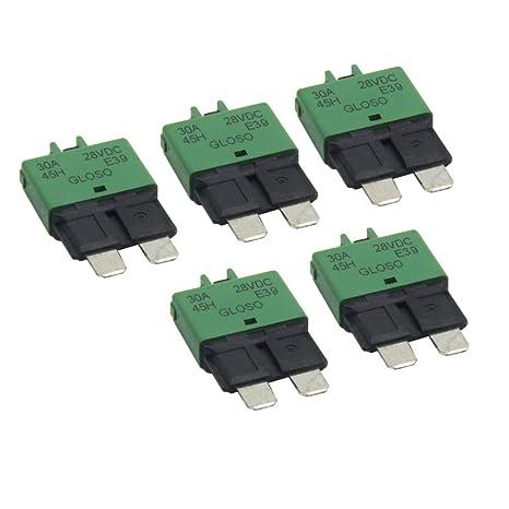 amazon com zookoto 5pcs 12v 28v dc 30a circuit breaker blade fuse rh amazon com