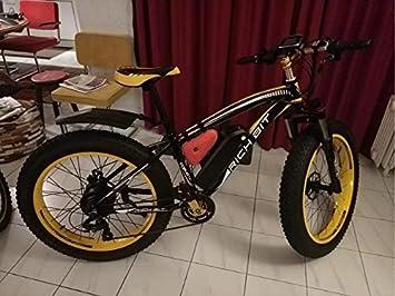 eBike/_RICHBIT 022 Elettrico Bike Fat Tire Elettrico Bicicletta Cruiser Bicicletta eBike Ciclismo 1000W 48V 17AH Mountain E Bicicletta
