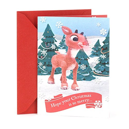 Hallmark Christmas Greeting Card for a Kid (Rudolph the Red Nosed Reindeer) Christmas Card Kids