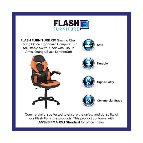 Best X10 Gaming Chair Racing Office USA 2021 Adjustable Swivel Orange
