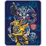 """Super Soft, Warm and Cozy Transformers 5 The Last Knight Lead The Way Silky Soft Throw, 40"""" x 50"""", Blue/Multicolor"""