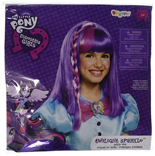 Disguise 85519 Twilight Sparkle Equestria Wig Costume -