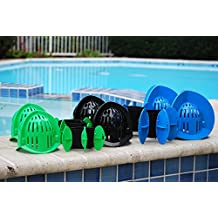 AquaLogix Total Package Aquatic Exercise System - Includes Online Demonstration Video with 30 Sample Exercises (3 Sets of Upper Body Bells & 2 Sets of Fins)