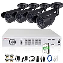 iSmart 8 Channel 960H HDMI DVR Kit with 1TB HDD Pre-installed including 4 700TVL Bullet Security Camera System D5608WH+C1010DP7+1TB