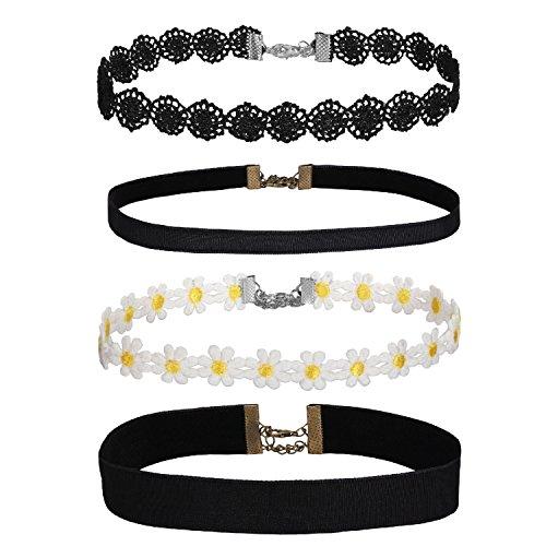 BodyJ4You Choker Necklace Set Women Girls Adjustable Velvet Retro Gothic Pendant Fashion Jewelry