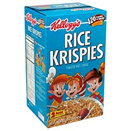 Rice Krispies Toasted Rice Cereal, 34.4-Ounce Boxes