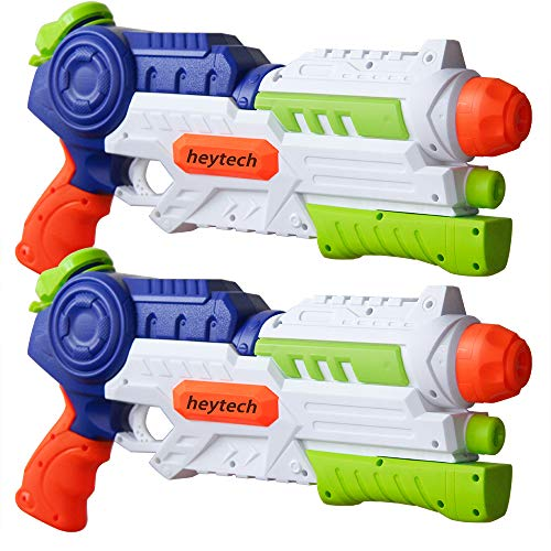 (heytech 2 Pack Super Water Gun Water Blaster 1200CC High Capacity Water Soaker Blaster Squirt Toy Swimming Pool Beach Sand Water Fighting)