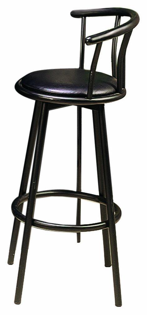 Amazon.com: Coaster 29 Inch Swivel Dining Barstool, Black Metal (2 Units  Per Box): Kitchen U0026 Dining