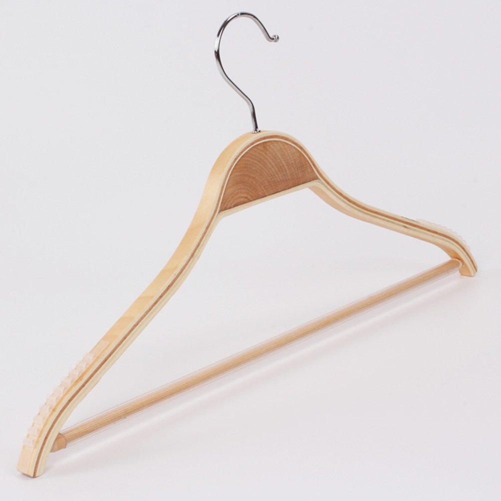 SDFDSVDCGVSGVCGD Bamboo wooden clothes rack,Non-slip can hang suit,Environmental protection wood drying clothes support wooden wood hanger-A by SDFDSVDCGVSGVCGD (Image #1)