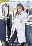 Sirdar Bonus Aran Tweed Ladies Knitting Pattern 9571 by Hayfield