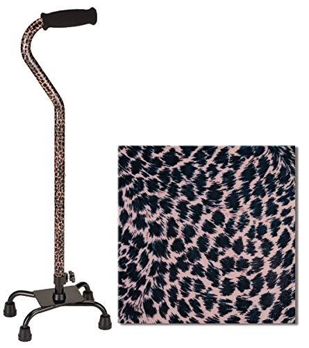 - NOVA Designer Quad Cane, Lightweight Four Legged Cane with Soft Grip Handle, Height (for Users 4'11