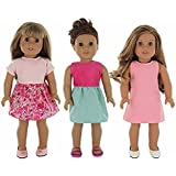 "Doll Clothes for American Girl - 3 Outfit Pack for 18"" Doll Clothes"