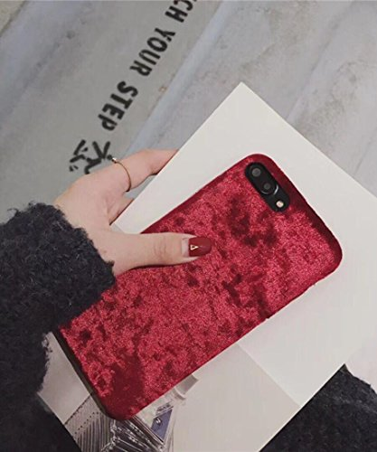 Losin Velvet Case Compatible with Apple iPhone 7 Plus / iPhone 8 Plus 5.5 Inch Fashion Luxury Cute Fuzzy Furry Winter Warm Fluffy Velvet Plush Soft TPU Back case