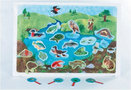 Down By The Pond - Pond Life Scene early learning flannelboard play set - Pre-Cut Figures