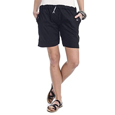 aabdcc718b Teemoods Women's Cotton Trendy Stylish Shorts, Western wear Casual Ladies  Shorts (Black, Small