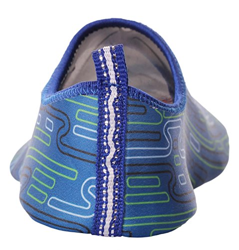 Caihee Dames En Heren Lichtgewicht Sneldrogende Slip Op Waterschoenen Aqua Barefoot Skin Shoes Blue1